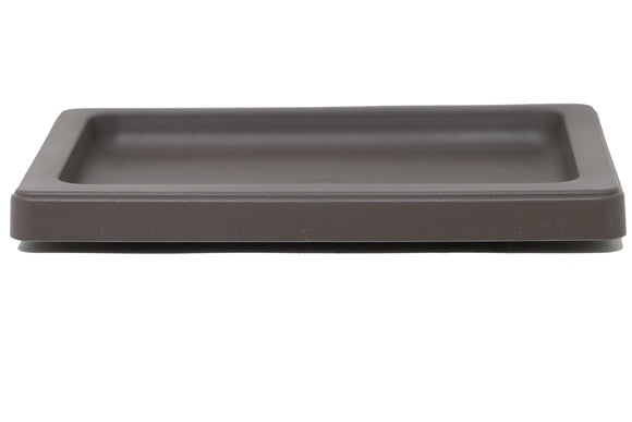 L-137 - 8 1/2 X 6 1/4 Rectangle Drip & Humidity Tray - Brown Plastic