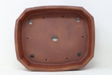 "David Bennette Brown/Red Rectangle Bonsai Pot - Glazed - 13.75"" x 11.25"" x 3.5"""