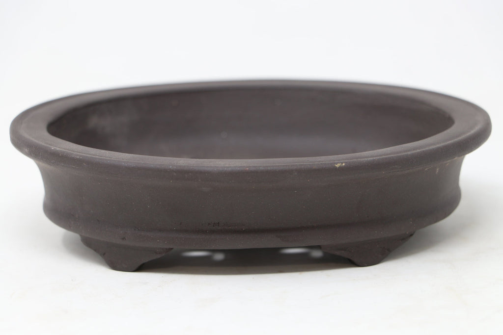 "Chinese Production Brown Oval Bonsai Pot - Unglazed- 6"" x 4.75"" x 1.5"""