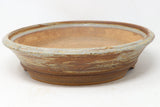 "Eagleville's Jack Hoover Brown/Gray Round Bonsai Pot - Glazed - 13.5"" x 13.5"" x 3.25"""
