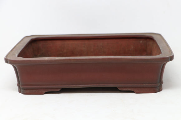 Bigei Rectangle Bonsai Pot - Glazed - 10