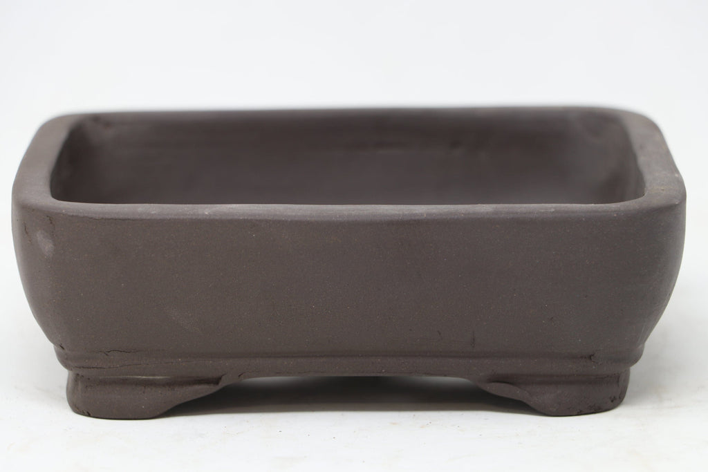 "Chinese Production Brown Rectangle Bonsai Pot - Unglazed- 5.75"" x 4.5"" x 2"""
