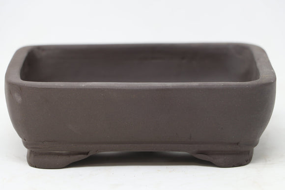 Chinese Production Brown Rectangle Bonsai Pot - Unglazed- 5.75