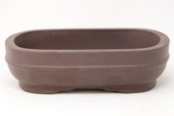 Chinese Production Brown Rectangle Bonsai Pot - Unglazed- 6.5