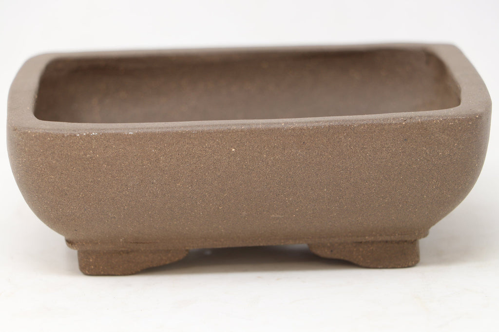 "Chinese Production Brown Rectangle Bonsai Pot - Unglazed- 6.25"" x 5"" x 2.25"""