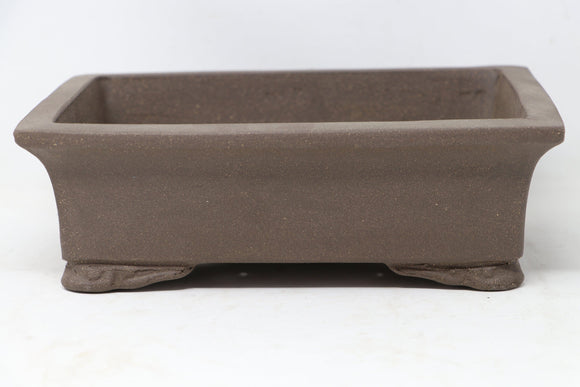 Chinese Production Brown Rectangle Bonsai Pot - Unglazed- 10