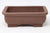 "Chinese Production Brown Rectangle Bonsai Pot - Unglazed- 6.25"" x 4.5"" x 2.25"""