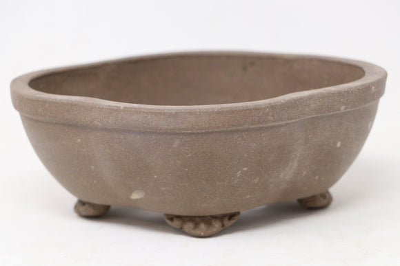 Chinese Production Brown Mokko Bonsai Pot - Unglazed- 6.25