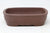 "Chinese Production Brown Rectangle Bonsai Pot - Unglazed- 6.25"" x 4.75"" x 1.75"""