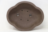 "Chinese Production Brown Mokko Bonsai Pot - Unglazed- 8"" x 6.5"" x 2.75"""