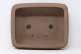 "Chinese Production Brown Rectangle Bonsai Pot - Unglazed- 10.25"" x 8.25"" x 3.25"""