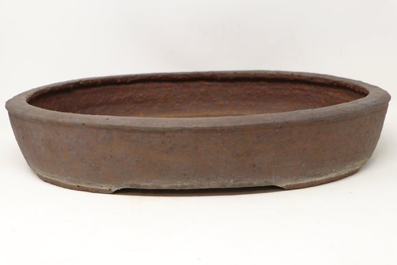 Japanese Sugiura Keisen Oval Bonsai Pot - 18.65