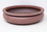 "Lynn August Red Clay Unglazed Round Bonsai Pot - 7.75"" x 2"""