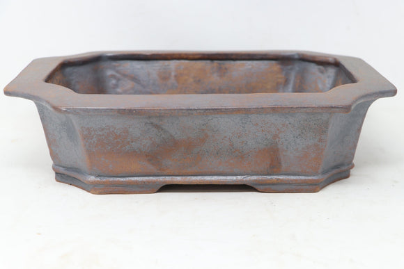 Sam Miller Brown Rectangle Bonsai Pot - Stained - 11.25