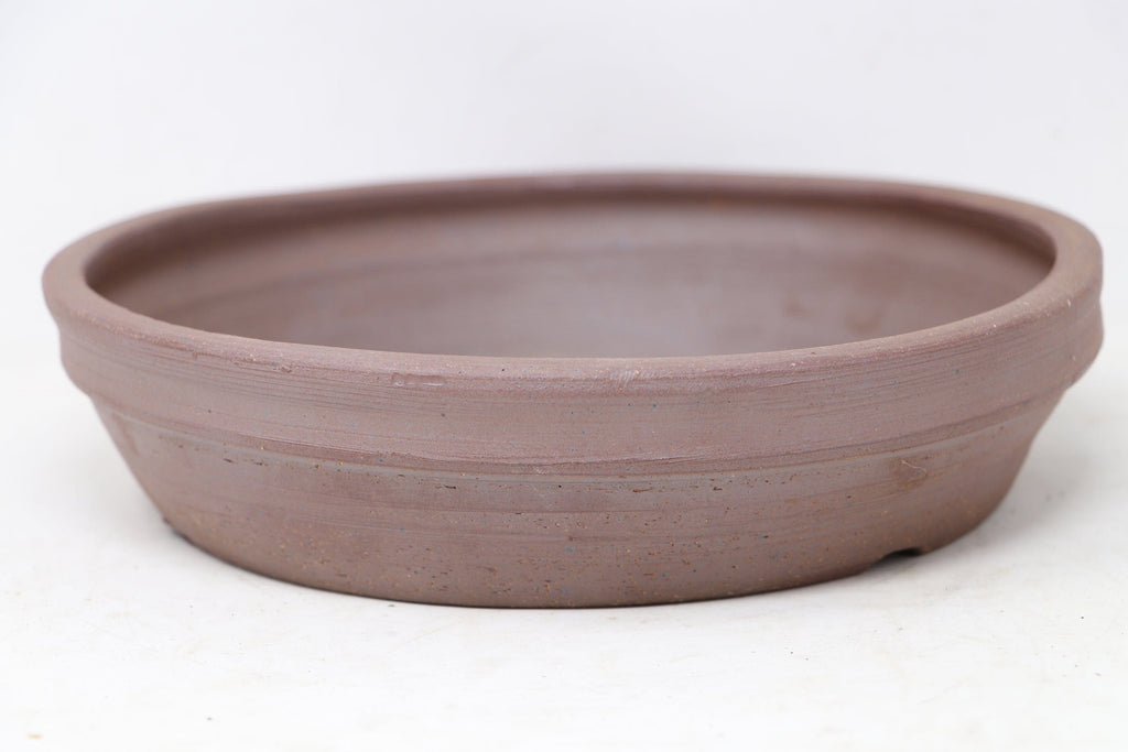 "Sam Miller Unglazed Nanban Round Bonsai Pot - 8.75"" x 2"""