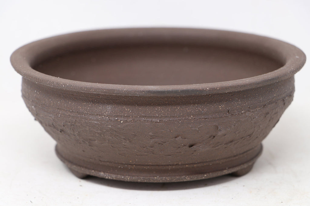 "Brian Soldano Round Brown Bonsai Pot - Unglazed - 7"" x 7"" x 2.75"""