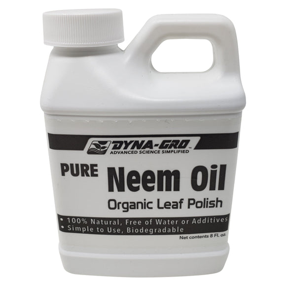 Dyna-Gro - Cold Pressed Pure Neem Oil - Organic Leaf Polish & Pest Eliminator - 8 Ounces