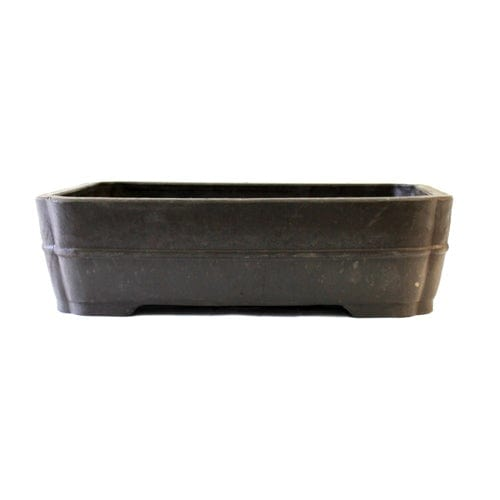 RED-13 Inside Dimensions: 14.75 x 11.25 x 3.75 Rectangle Mica Bonsai Pot - RED Series
