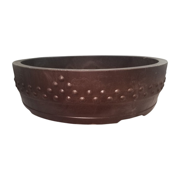 ROA-12 Drum Round Mica Bonsai Pot - ROA Series