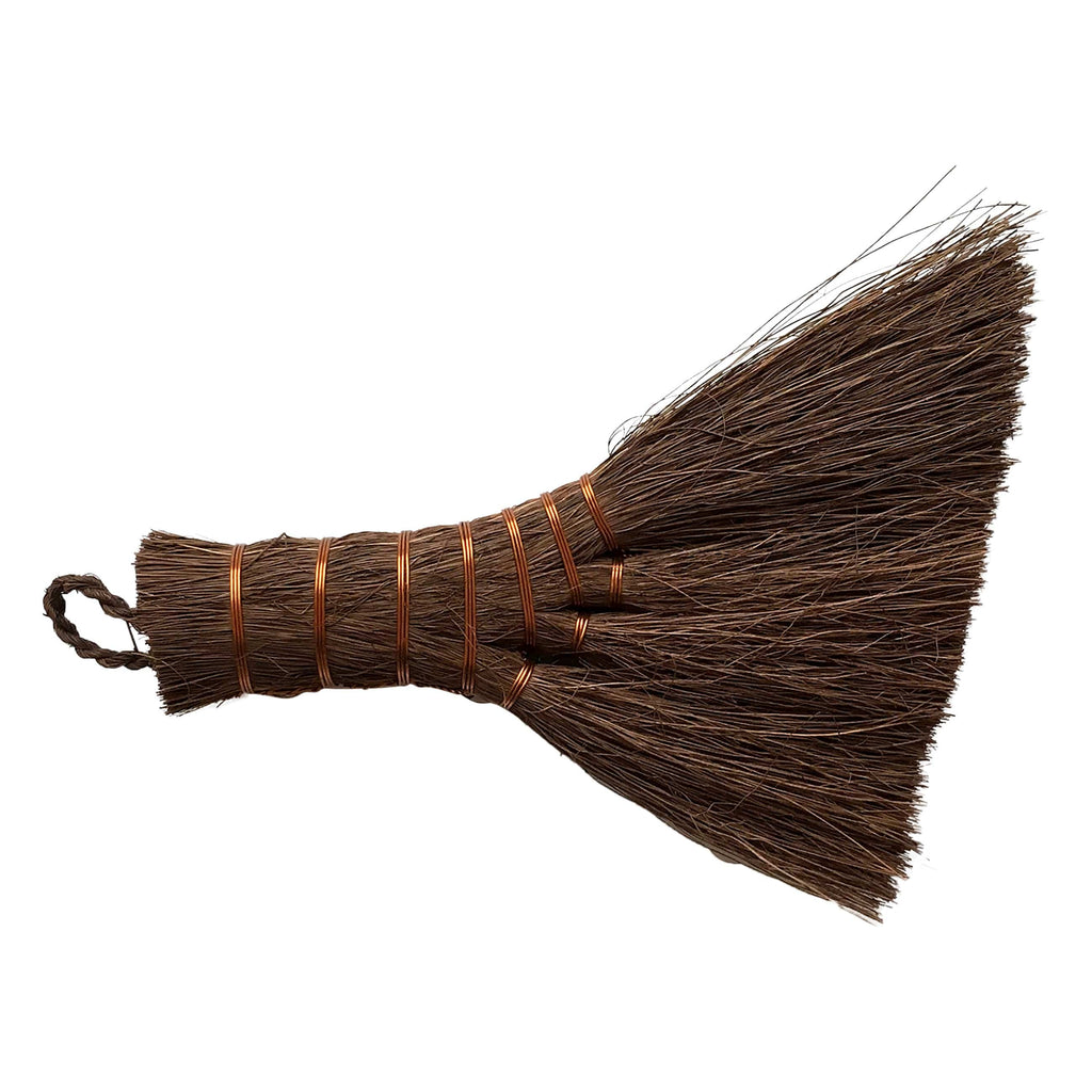 "Chinese 5.75"" bonsai soil broom, novice grade"