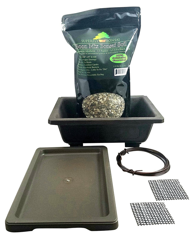 Premium Rectangle Mica Bonsai Repotting Kit