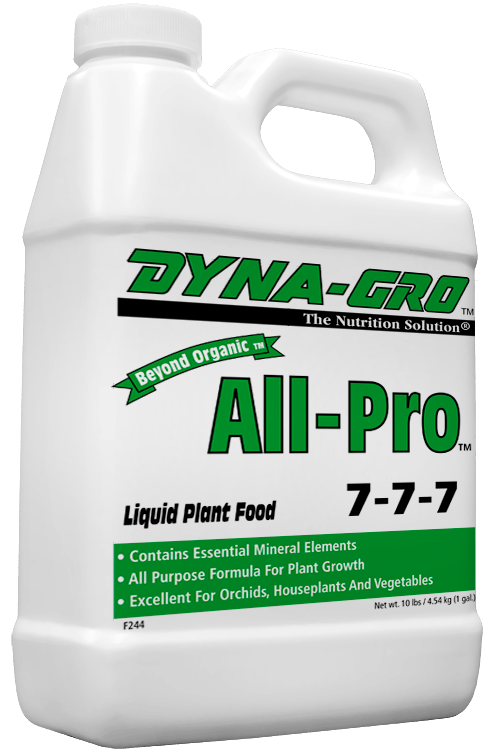 1 Gallon Dyna-Gro All-Pro 7-7-7 - Balanced All Purpose Fertilizer For Bonsai Trees & Other Plants