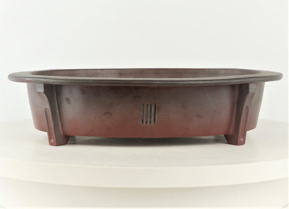 David Bennette Reddish Brown Oval Bonsai Pot - 11.25