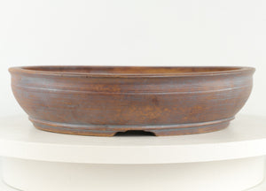 "Sam Miller Unglazed Round Bonsai Pot - 11.75"" x 11.75"" x 2.75"""