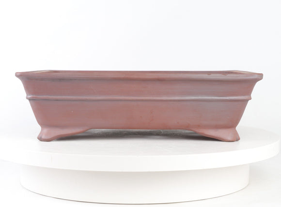 John Cole Red Unglazed Rectangle Bonsai Pot - 12