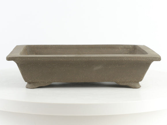 John Cole Brown Unglazed Rectangle Bonsai Pot - 9.25