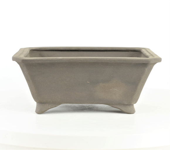 John Cole Brown Unglazed Rectangle Bonsai Pot - 7.75