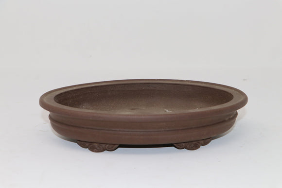 Oval Unglazed Production Bonsai Pot - 8
