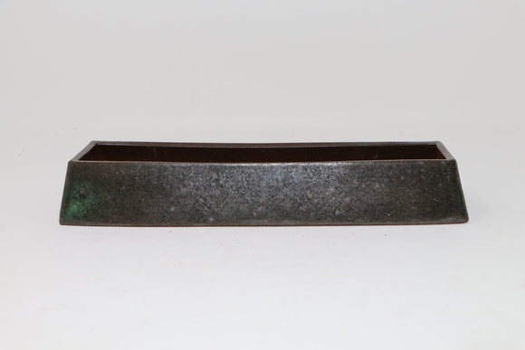 Inverse Rectangle Elongated Kusamono Pot by Bill Stufflebeem - 10.75