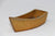 "Brown Glazed Small Boat Shaped Kusamono Pot - 4.25"" x 1.75"" x 1.5"""