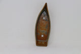 "Glazed Boat Shaped Kusamono Pot - 7.25"" x 2.75"" x 2"""