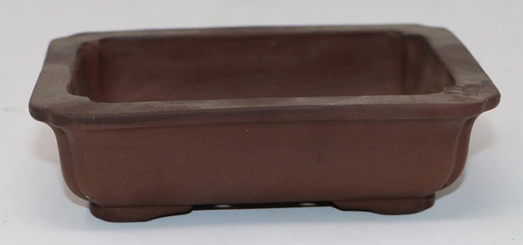 Rectangle Bonsai Pot - Unglazed - 6.25