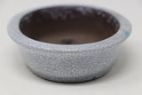 "White Crackle Glaze Shohin Bonsai Oval - 6.5"" x 5"" x 1.5"""