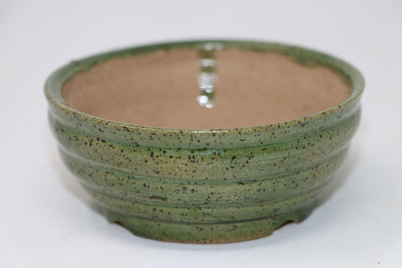 Green Round Small Bonsai Accent Plant Pot - Sean Smith - 4