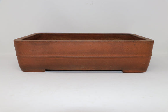 Antique Chinese Rectangle Bonsai Pot - Nakawatari era (120+ years old) - 15.55