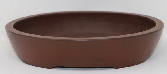 Unglazed Japanese Oval from the Yamaaki Kiln - 9.1