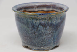"Sam Miller Glazed Blue Round Bonsai Pot - 5.5"" x 3.75"""