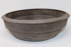 Jim Gremel Round Unglazed Bonsai Pot - 12.25