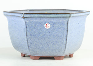 "Medium Hexagonal Cascade Bonsai Pot by Willow Bonsai - 9"" x 4.75"""