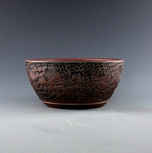 "Lynn August Round Bonsai Pot - 5.25"" x 2.5"""