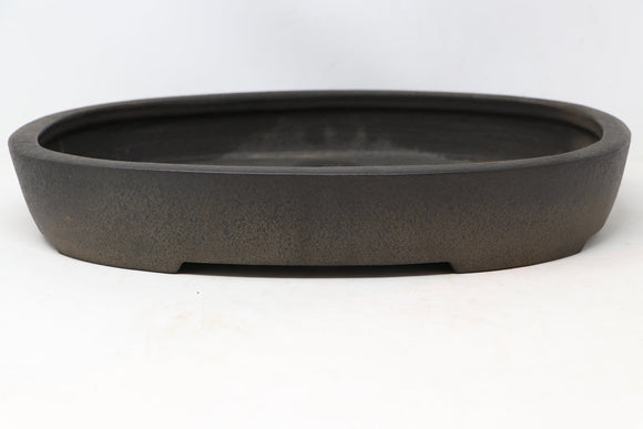 Japanese Tokoname Koyo Brown/Grey Oval Bonsai Tree Pot - 16.5