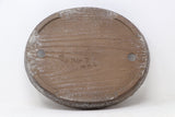 "Japanese Tokoname Yamaaki Brown Oval Bonsai Pot - 12.5"" x 10.25"" x 2"""