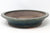 "Japanese Tokoname Yamaaki Green Glazed Round Bonsai Pot - 13"" x 2.5"""