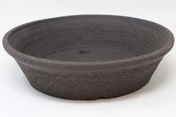 Lynn August Brown Round Bonsai Pot - Unglazed - 9.5