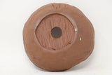 "Roy Minarai Unglazed Brown Round Bonsai Pot - 5"" x 2"""