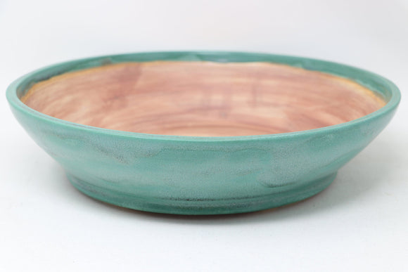 John Cole Round Glazed Green Bonsai Pot - 11.75